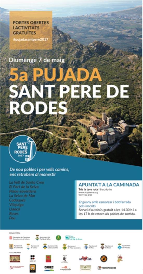 La Pujada a Sant Pere de Rodes repeteix èxit de participació en la seva cinquena edició