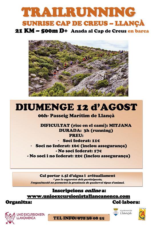 """12 d'agost: Trailrunning """"Sunrise Cap de Creus- Llançà"""""""