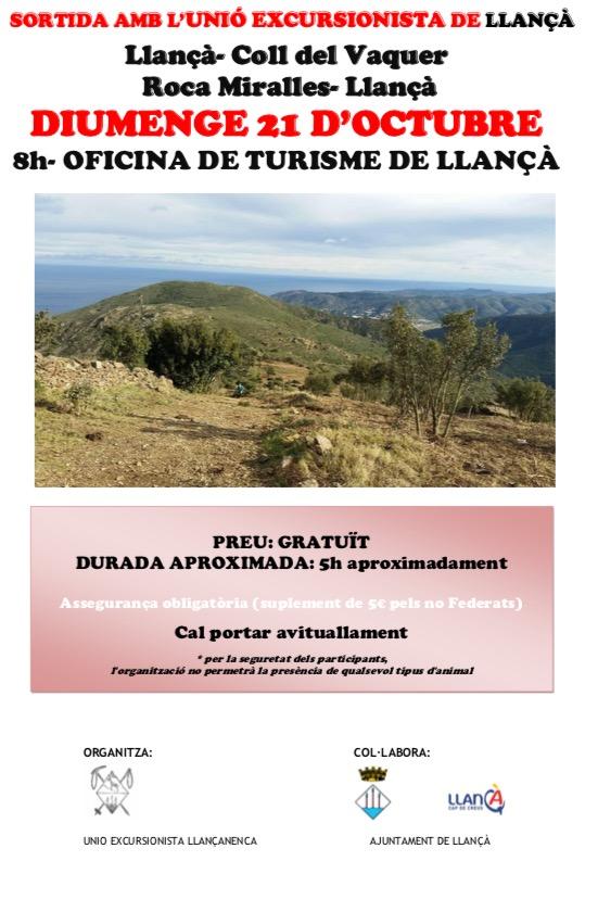 21 d'octubre: Llançà-Coll del Vaquer-Roca Miralles-Llançà