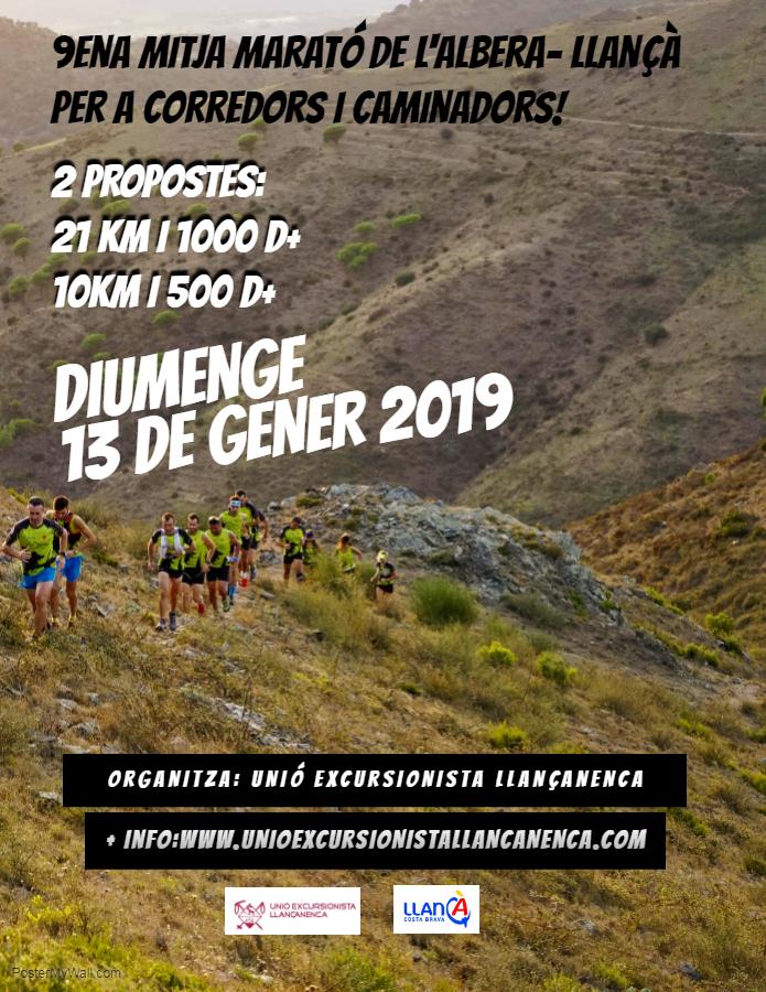 13 de gener 2019 – 9à Mitja Marató de l'Albera (actualitzat)