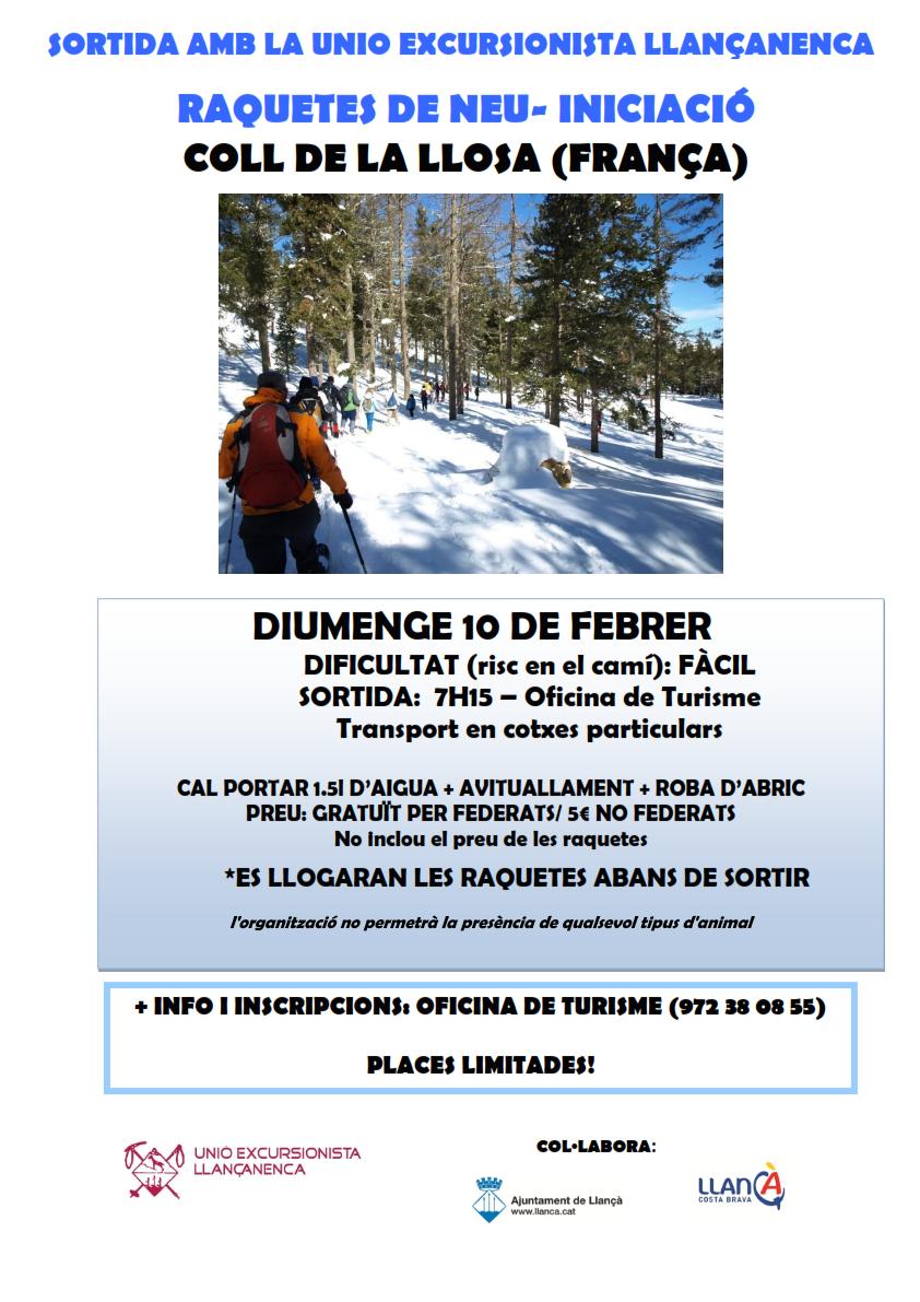 """10 de febrer """"Raquetes de Neu"""" – Iniciació"""