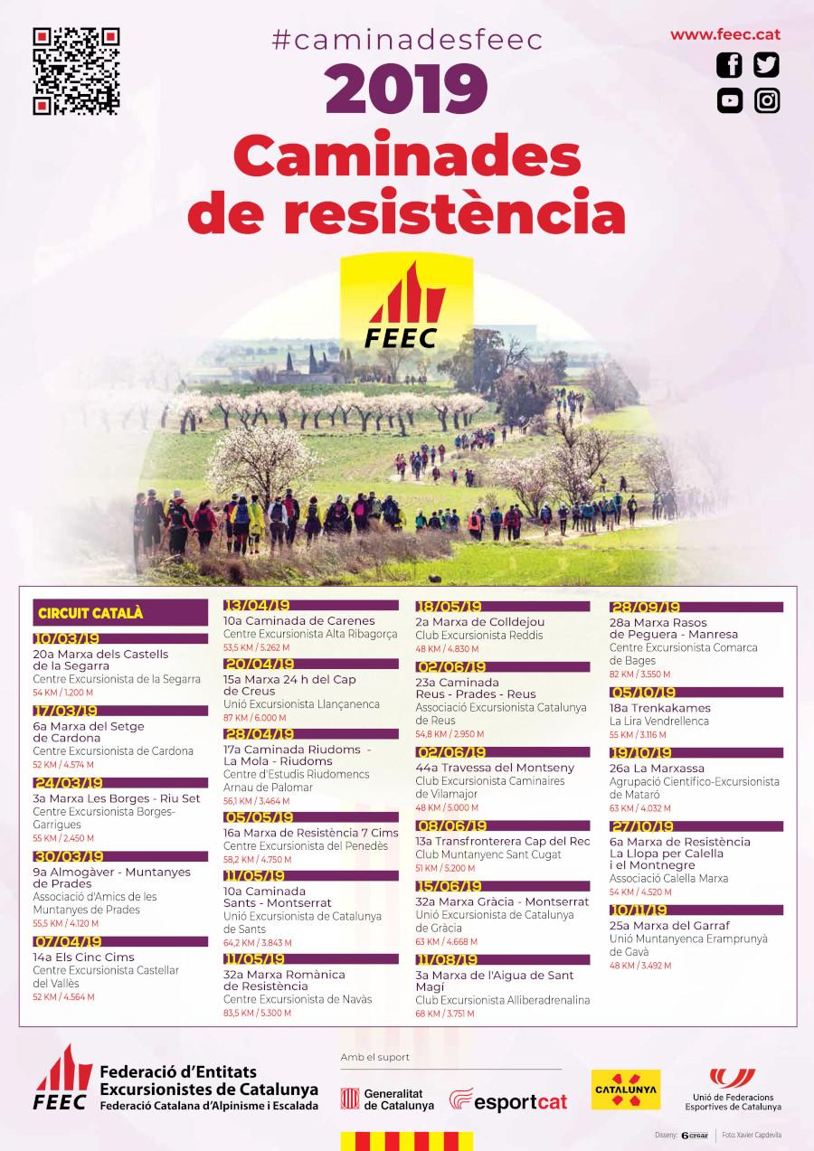 Calendari Caminades de resistència FEEC 2019
